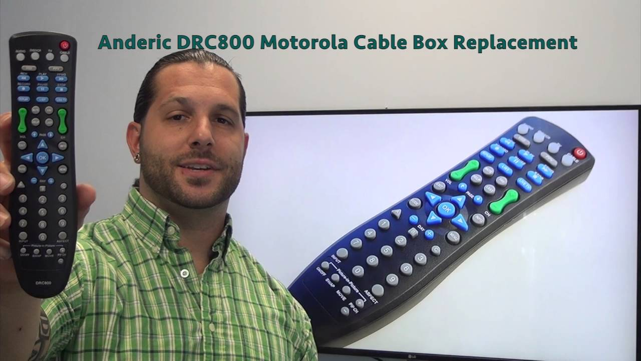 Anderic drc800 for motorola cable box remote www.