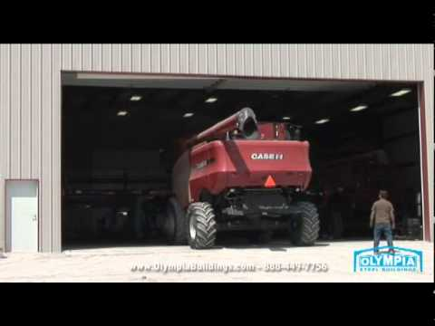 80 x 160 steel building owner saves his farm equipment youtube. Black Bedroom Furniture Sets. Home Design Ideas
