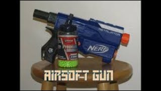How to make a cheap working airsoft gun out of normal house things and nerf like stuff