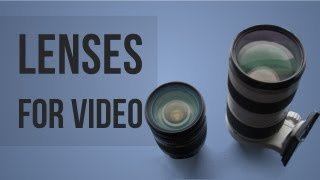 Best DSLR Lenses For Video Production(PRODUCT LINKS: http://dslrguide.tv/lenses-and-optics/ *I am not associated with any products included in this video, I am sharing my opinions.* Kit One: Canon ..., 2013-07-20T20:52:27.000Z)