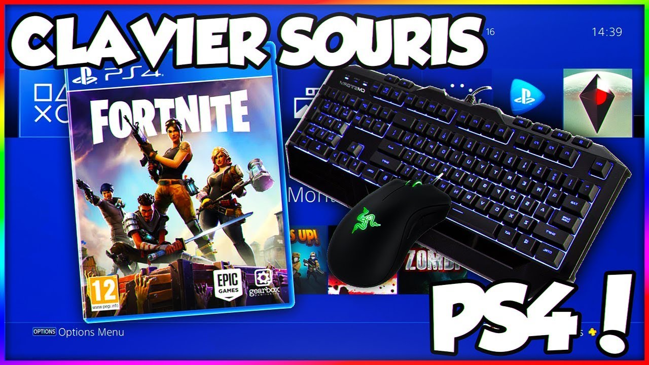 jouer avec clavier souris sur la ps4 sans adaptateur fortnite youtube. Black Bedroom Furniture Sets. Home Design Ideas