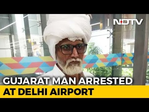 Gujarat Man Impersonates Senior Citizen With Fake Beard At Delhi Airport