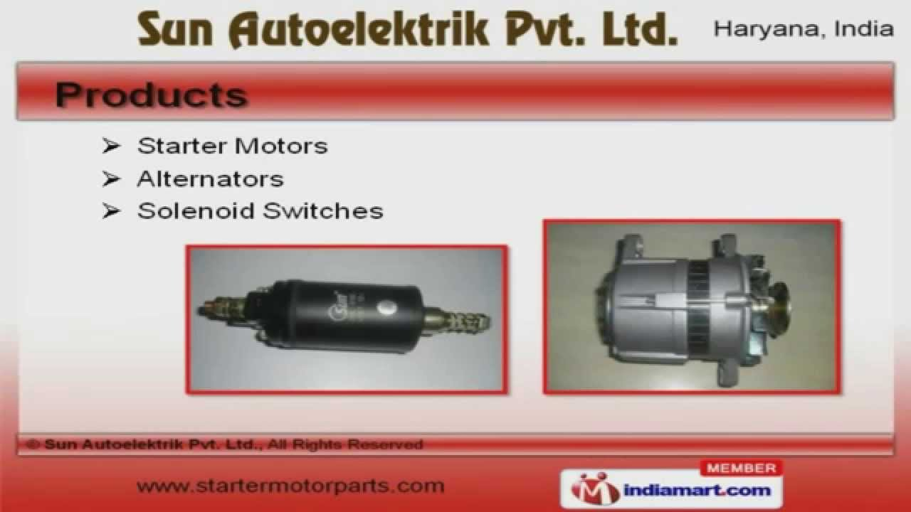 Auto Electric Components & Parts by Sun Autoelektrik Pvt. Ltd ...