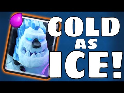 Clash Royale: ICE GOLEM GAMEPLAY & STATS IN ACTION!