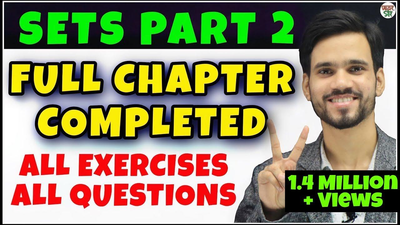 Sets Class 11 |  Maths Chapter 1 | Concept/Types/Questions/Solutions/Concept/Represention/Super Set