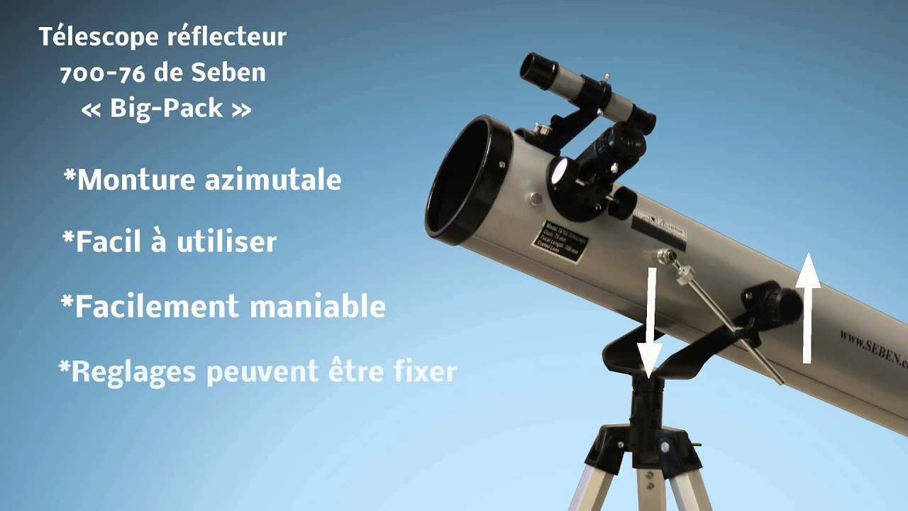 Seben télescope réflecteur neuf big pack youtube