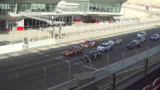 Total UAE Touring Cars Race Start - Dubai Autodrome Motor City Motor Festival