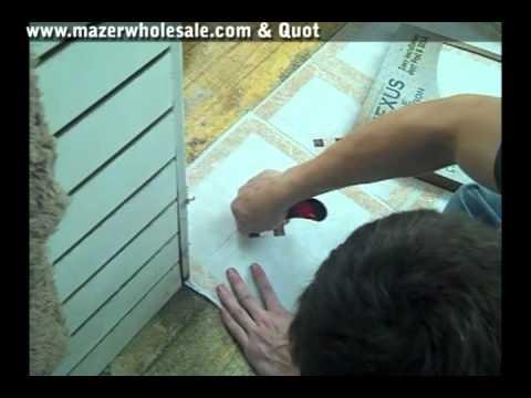 Installing Self Adhesive Floor Tiles Youtube