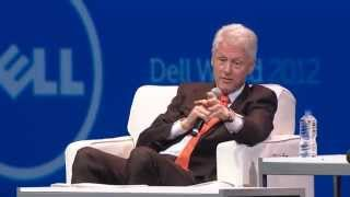 Michael Dell and President Bill Clinton