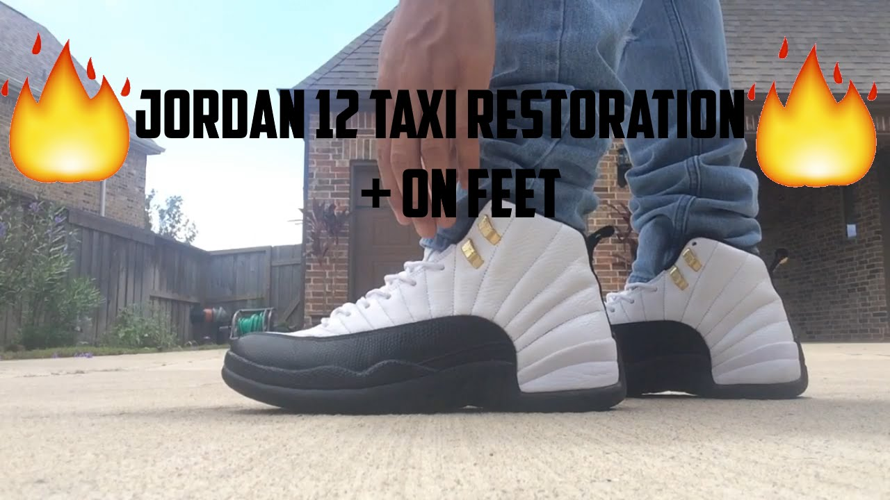4298280882f6a4 ... switzerland jordan 12 taxi restoration on feet youtube 28eba b460a