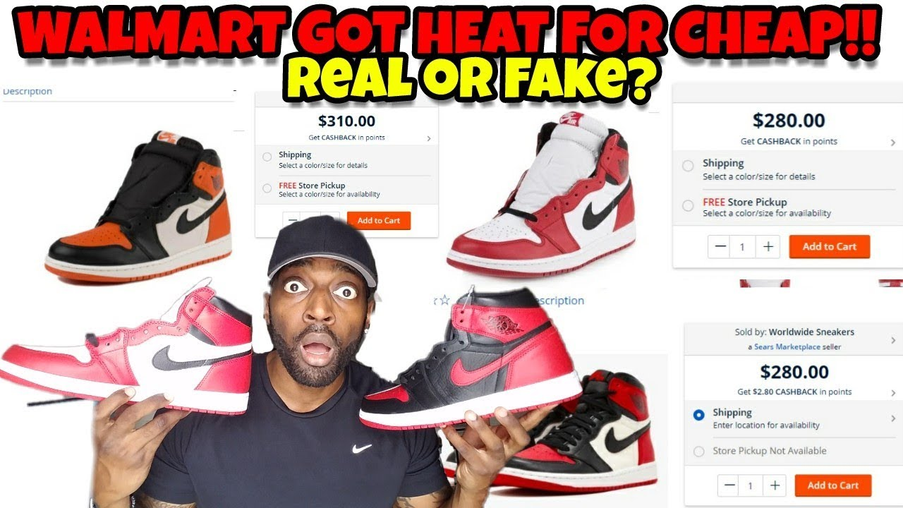 Walmart   Sears Got Jordans for CHEAP!! Is Walmart Selling Fake Jordans   20102543d