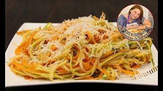 Как просто и вкусно приготовить Макароны из кабачков. Итальянский соус. Быстро и супер вкусно.
