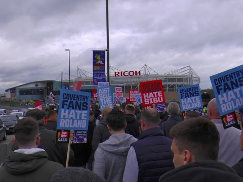Coventry & Charlton Fans Protest March 14 April 2017