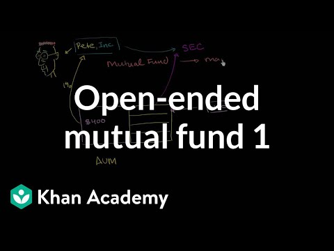 Open-ended mutual fund (part 1)  | Finance & Capital Markets | Khan Academy