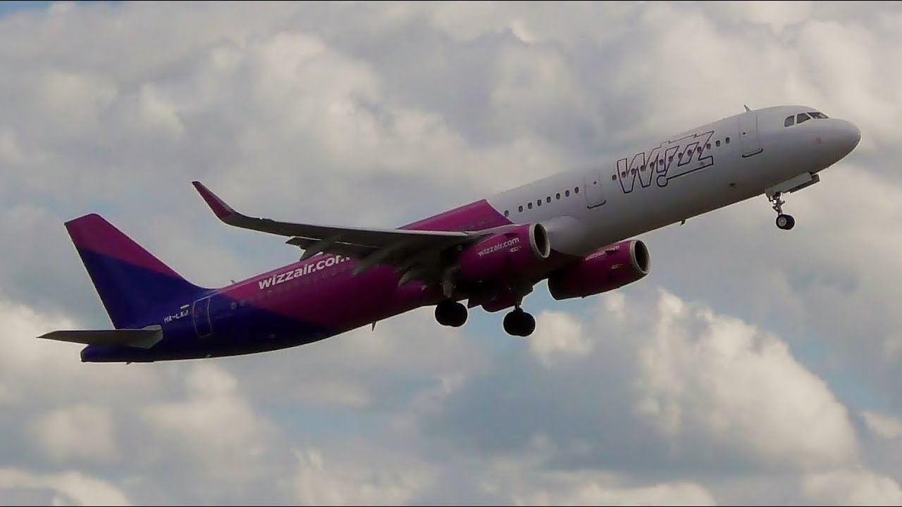 Wizzair Airbus A321 232sl Takeoff From Gdansk Airport Youtube