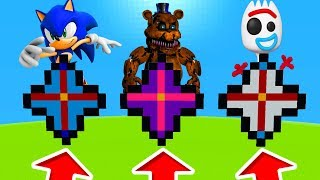 Minecraft PE : DO NOT CHOOSE THE WRONG NETHER STAR! (Sonic, Freddy & Forky)