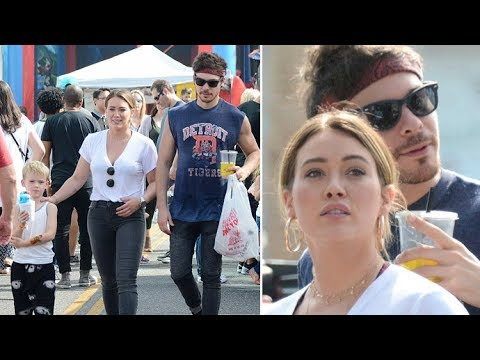 Hilary Duff Looking So In Love With BF Matthew Koma While Treating Luca To Fun In WeHo
