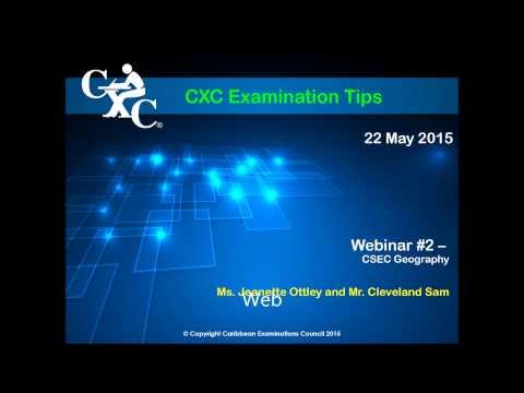 CSEC Geography Examination Tips