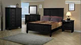Sandy Beach Black Panel Bedroom Collection From Coaster Furniture