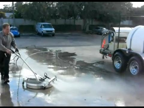 Extremely fast concrete cleaning 30 hp 3 500 psi 9 gpm for Concrete cleaning machine