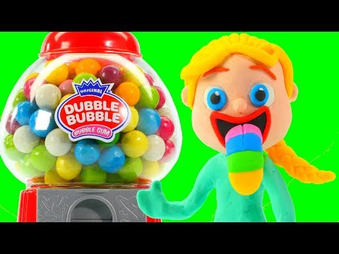 FROZEN ELSA, HULK & THE GUMBALL MACHINE ❤ Superhero Babies Play Doh Cartoons For Kids