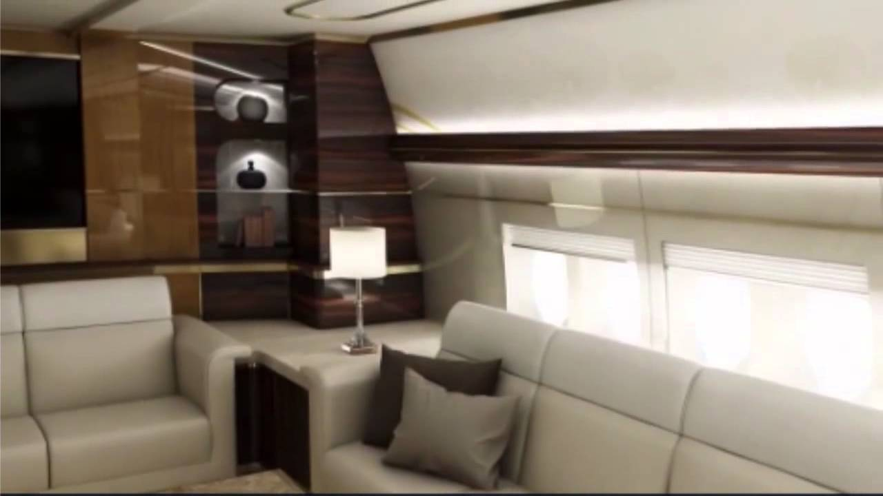 Luxury Plane Firm Unveils £400 Million Boeing Customised With Restaurant  And Bedrooms   YouTube