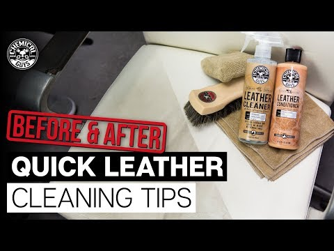 Shocking Before and After! How to clean leather seats! Chemical Guys