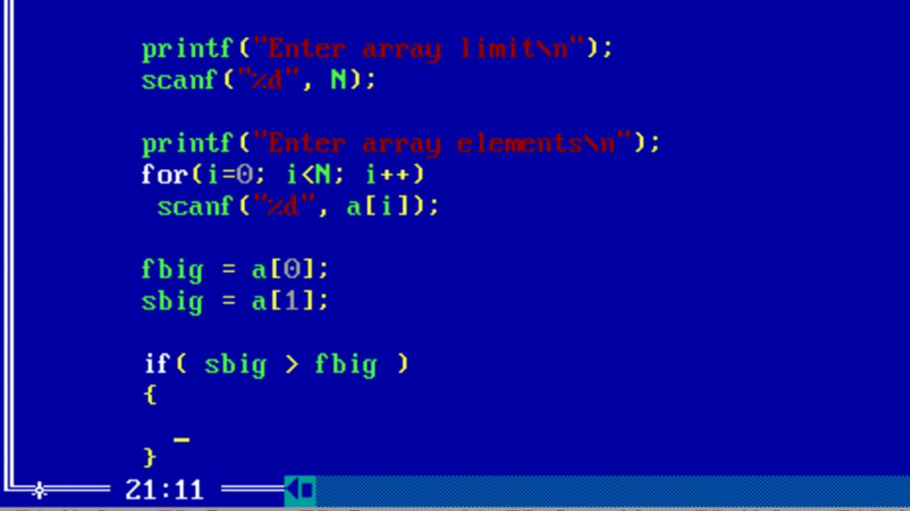Find First And Second Biggest In An Array Without Sorting