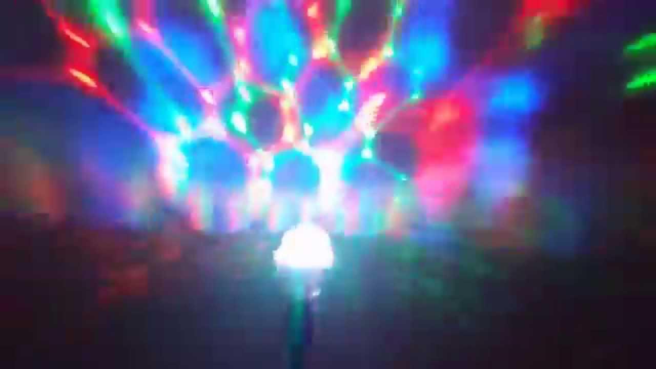 Sharper Image Party Light Rotating Disco Bulb - YouTube