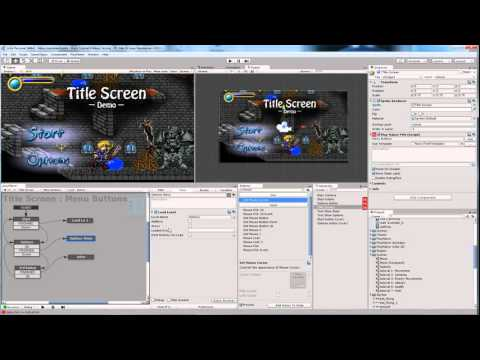 ART155: Unity Part 9 -- 2D Title/Menu Screen with mouse or keyboard