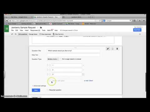 How to create a sample request form in Google Drive