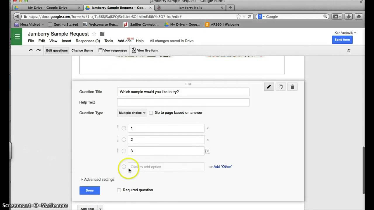 How to create a sample request form in Google Drive - YouTube