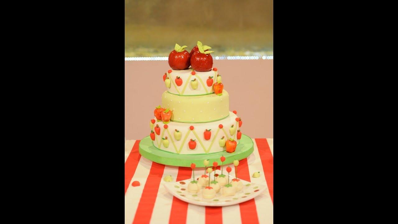 Decoracion de torta con modelado de manzanas especial for Decoracion de tortas espejo