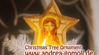 【wooden Christmas Tree Ornament】