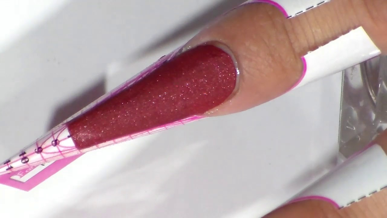 uñas acrilicas punta diamante efecto mate - YouTube