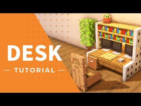 [Minecraft] How to make a table with a TV on it(Tutorial)