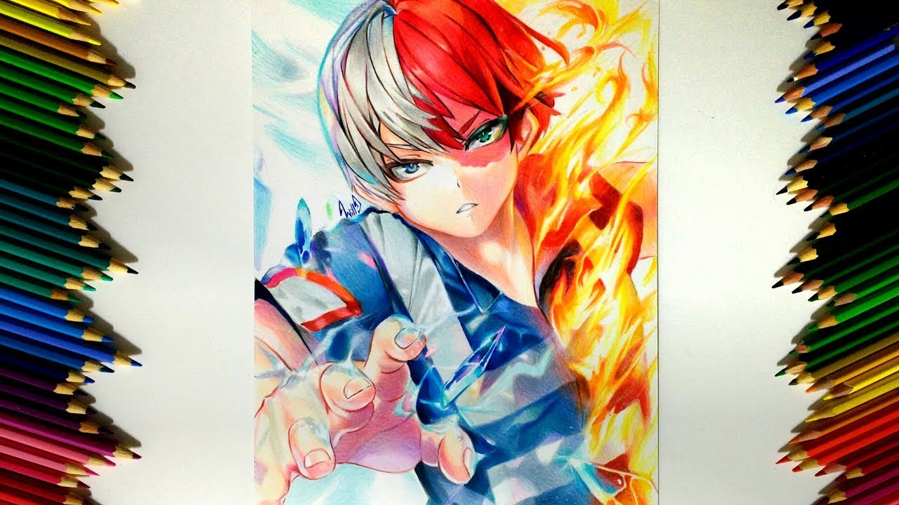 Drawing - Todoroki Shoto (Boku no Hero Academia 僕のヒーローアカデミア)