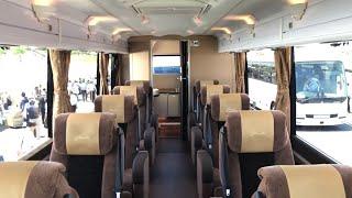 【豪華バスの車内】日本交通 グリシェルトin 2018バステクフォーラム