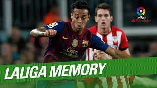 Laliga memory: thiago best goals and skills