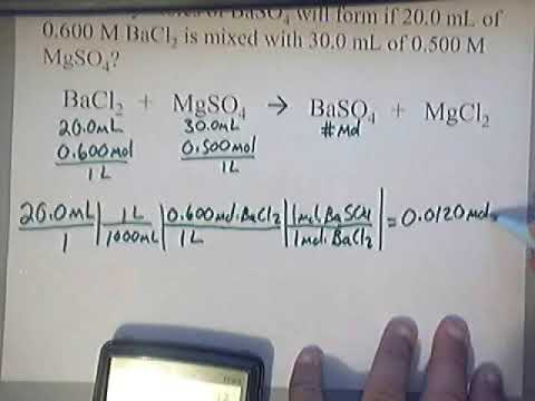 how to work out limiting and excess reagents
