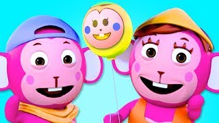 Learn Colors With Monkey Finger Family With Colourful Balloons 3D Kids Songs By All Babies Channel thumbnail