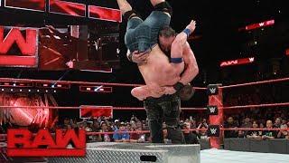 John Cena vs Braun Strowman Raw Sept 11 2017