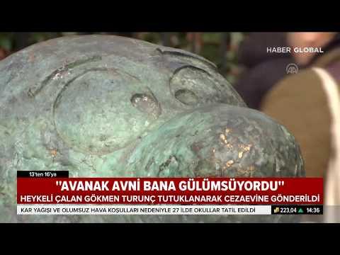 Avanak Avni Heykelini Çalan Gökmen Turunç Tutuklandı.