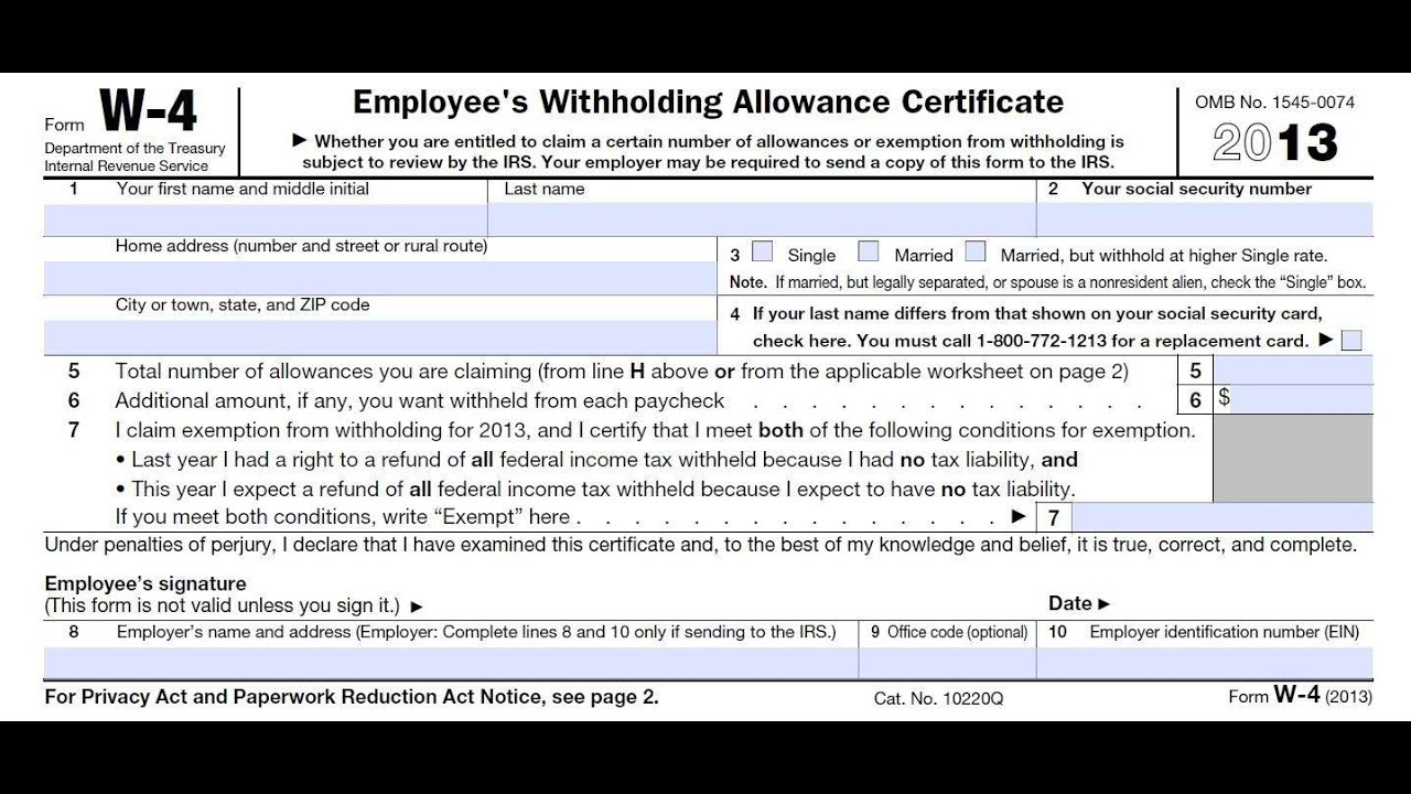 How to fill out irs w4 form correctly and maximize it for your how to fill out irs w4 form correctly and maximize it for your benefit youtube falaconquin