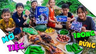 Thái Chuối | Thử Thách Cắm Trại Trong Rừng Sâu - Mở Tiệc Trên Núi
