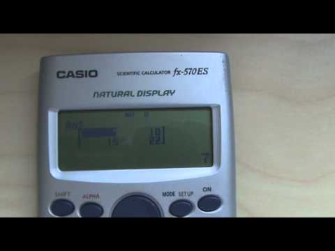 Matrices con la calculadora Casio FX-570 ES