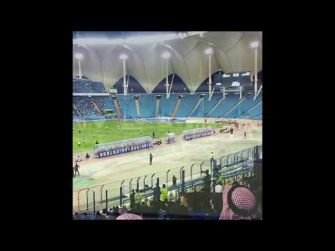 Saudi Woman in Football Stadium for First time