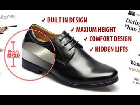 Elevator Shoes for Short Men to Look Taller - YouTube