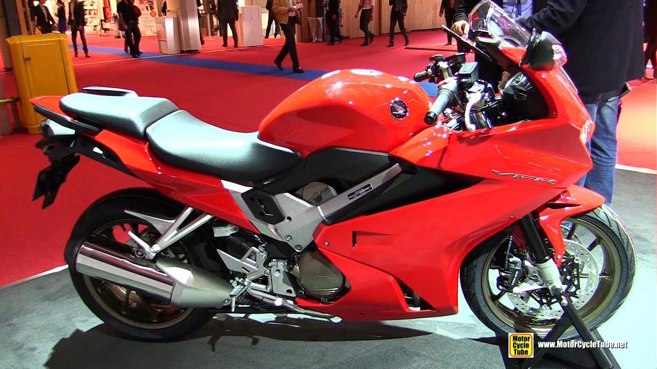 2015 Honda VFR 800F ABS - Walkaround - 2014 Paris Auto Show - YouTube