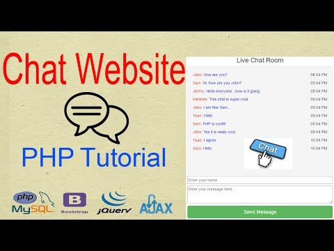 CHAT WEBSITE TUTORIAL PHP - SOCIAL MEDIA CHAT - CHAT WEBSITE